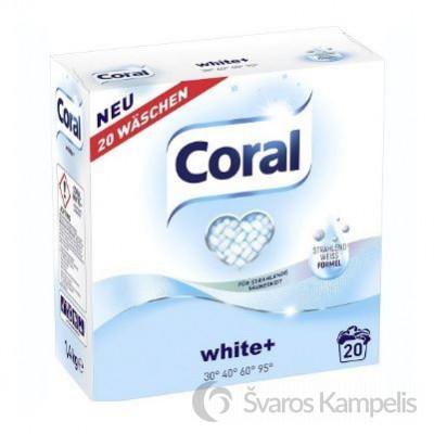 Coral White sklabimo milteliai baltiems audiniams 20sk/ 1,4kg