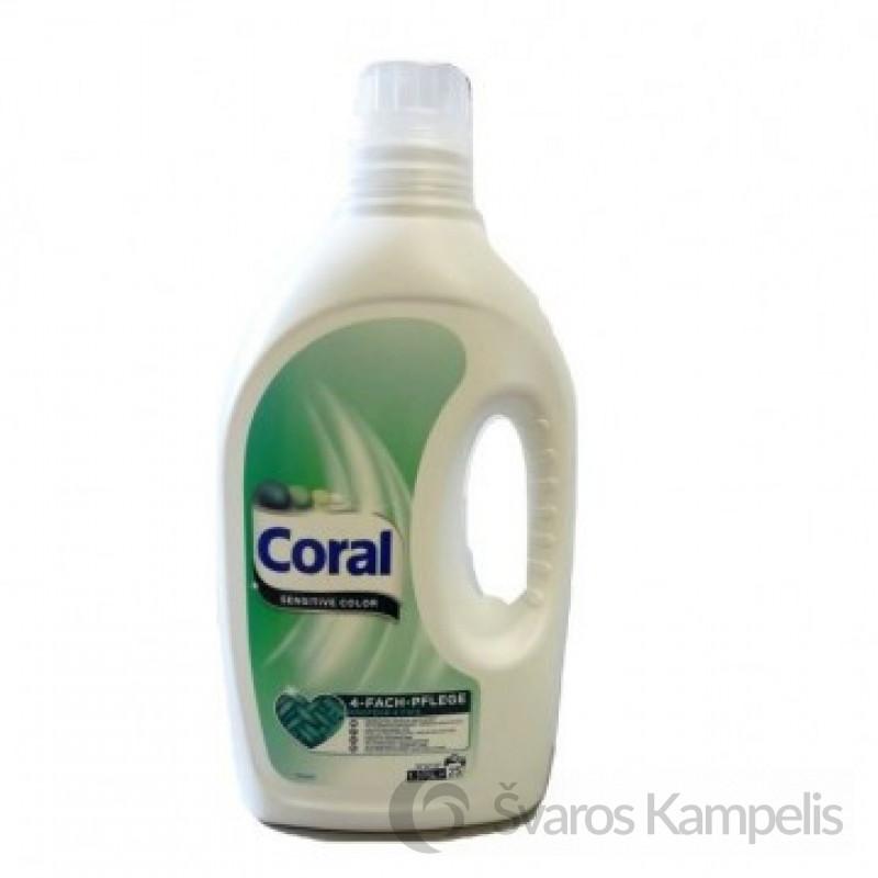Coral skalbimo gelis Sensitive Color 25sk/ 1,375L