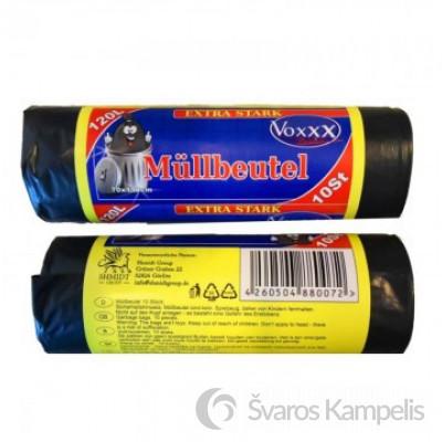 Voxxx Mullbeutel labai stiprūs šiukšlių maišai 120l/10vnt