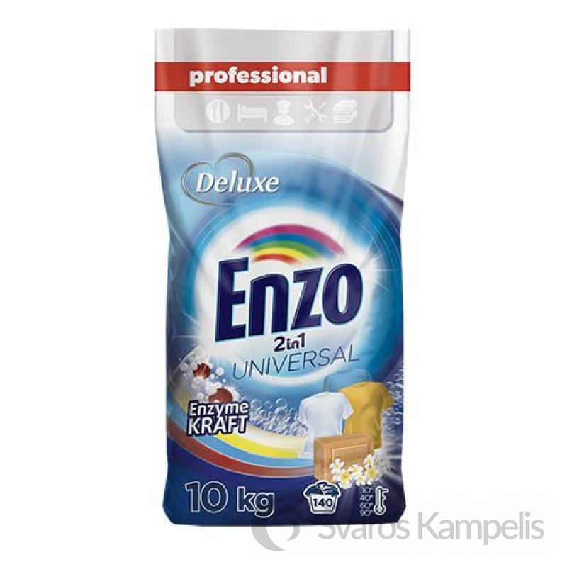 Deluxe Enzo universal skalbimo milteliai 2in1 140sk/ 10kg