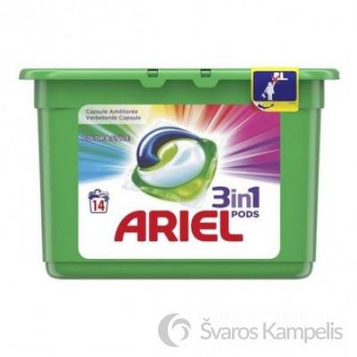 Ariel skalbimo kapsulės 3in1 14 vnt color