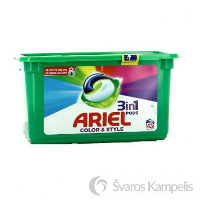 Ariel 3in1 43 vnt Color kapsulės