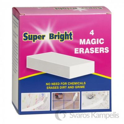 SUPER BRIGHT melamino kempinėlės 4 vnt