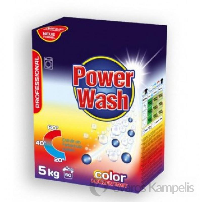 Power Wash skalbimo milteliai spalvotiems audiniams 5 kg.