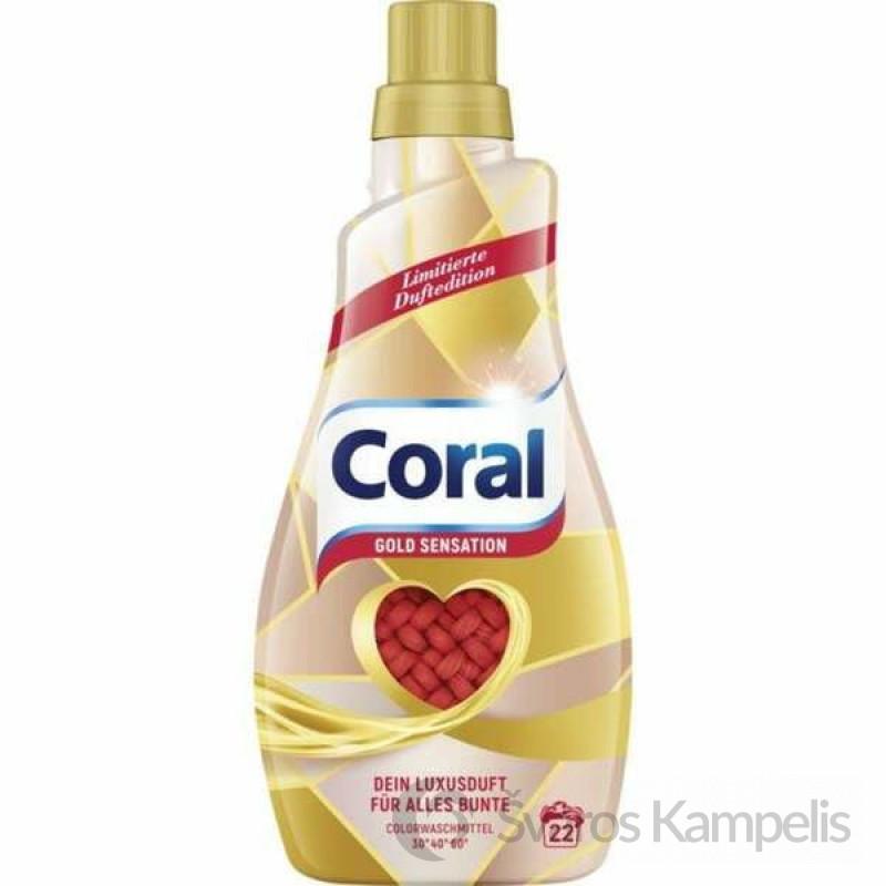 Coral Gold Sensation color skalbimo gelis 22sk/1,1l