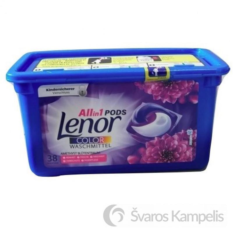 Lenor 3w1 Amethyst Color kapsulės 38 vnt