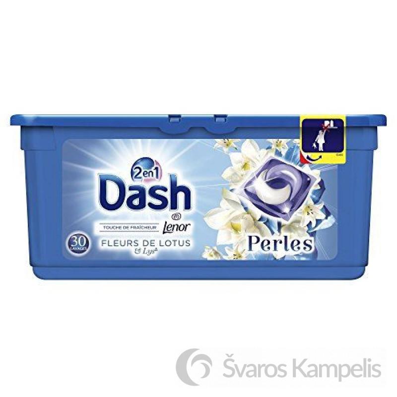 Dash 2in1 Lotus skalbimo kapsulės 30 vnt.
