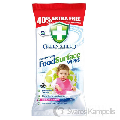 greenshield food surface wipes 70pk