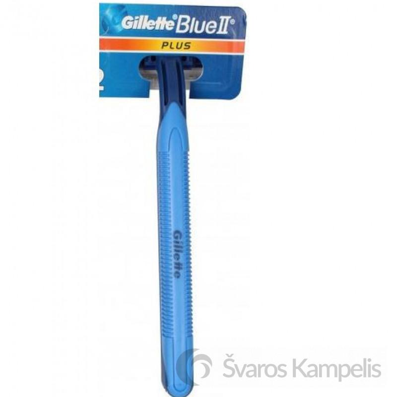 Gillette Blue II Plus skutimosi peiliukas su koteliu 1vnt