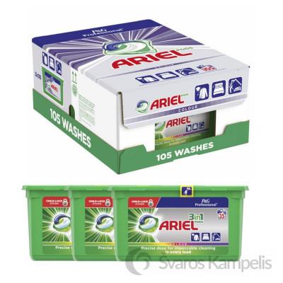 Ariel 3in1 3x35vnt= 105vnt Color kapsulės