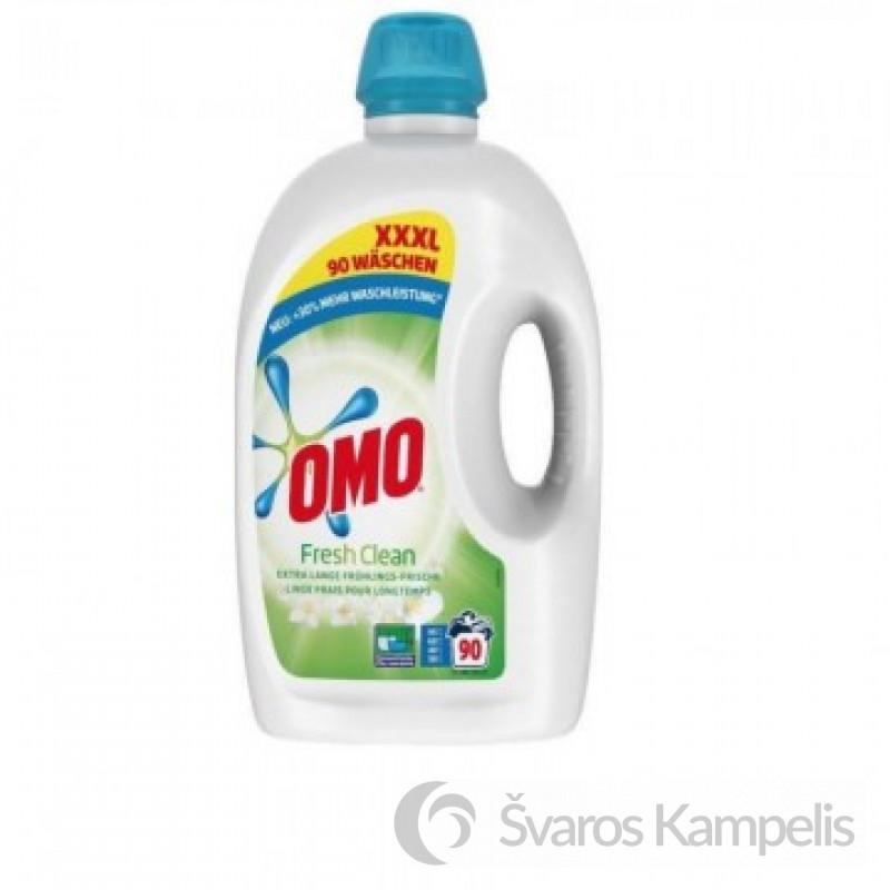 Omo Fresh Clean skalbimo gelis 90skalbimų/4,5 litro