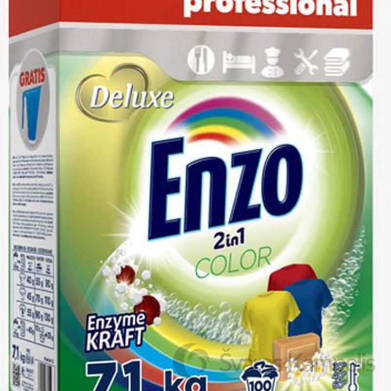 Deluxe Enzo color skalbimo milteliai 2in1 100sk/ 7,1kg