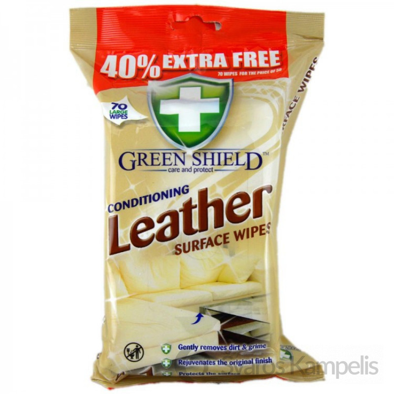 green shield conditioning leather surface wipes pack of 70 750x750