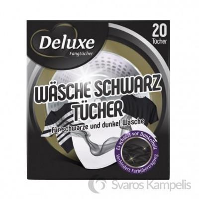 Deluxe Schwar servetėlės juodiems skalbiniams 20 vnt.