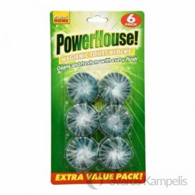 POWERHOUSE wc bakelių tabletės, 6vnt
