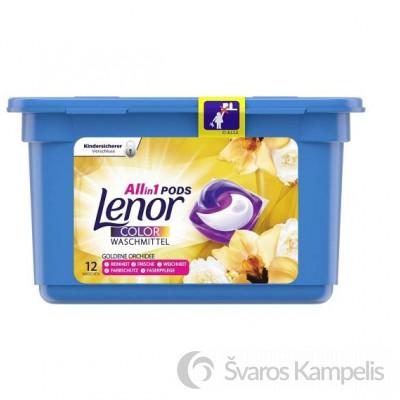 Lenor skalbimo kapsulės color Goldene Orchidee 3in1 12 vnt.