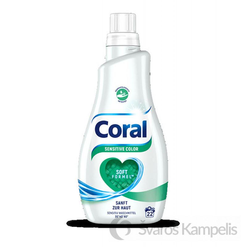 Coral Sensitive Color skalbimo gelis
