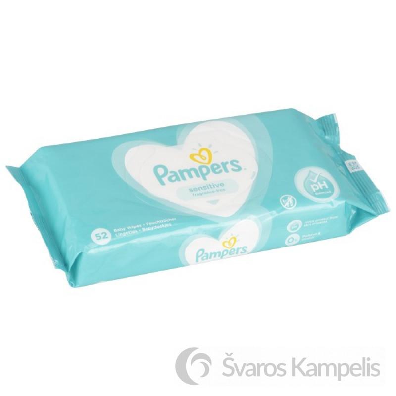 Pampers sensitive 52 vnt 1 600x600