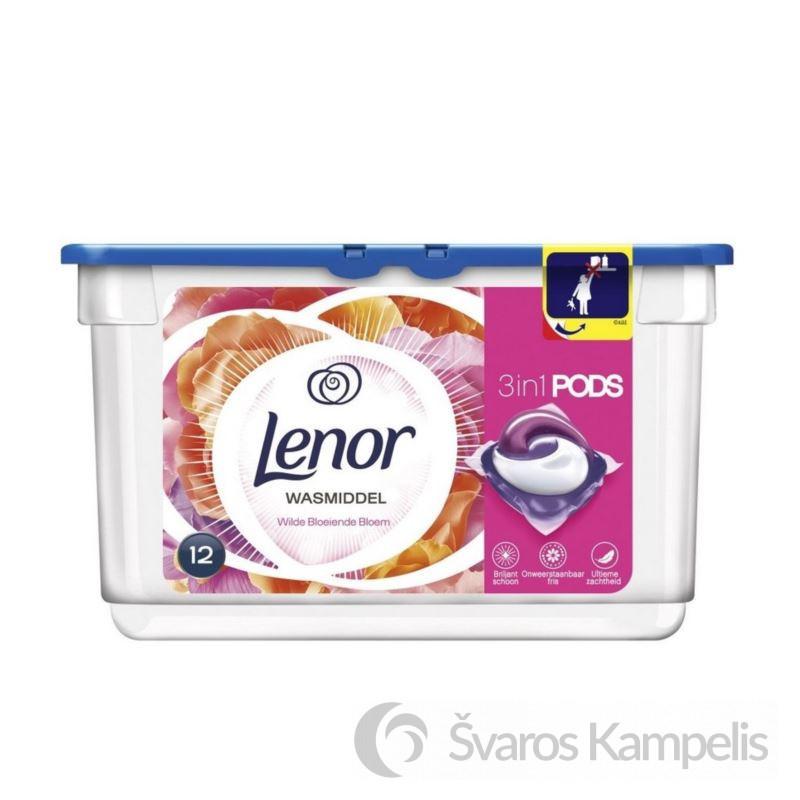 Lenor 3w1 Flower skalbimo kapsulės 12 vnt
