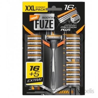 Body X Fuze skutimosi peikiukai +laikiklis 19 vnt.